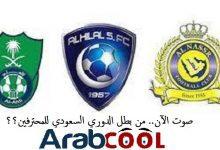 Photo of صوت الآن.. من بطل الدوري السعودي للمحترفين؟؟.. الهلال أما الأهلي أما النصر !!