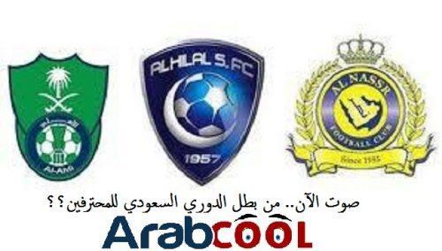 صوت الآن.. من بطل الدوري السعودي للمحترفين؟؟